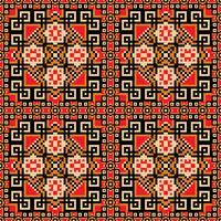 Sömlös bakgrund i orange, violett, röd och gul färger