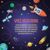 Raum-Cartoon-Hintergrund vektor