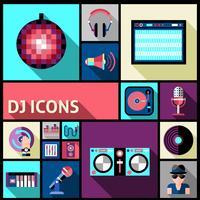 dj ikonuppsättning