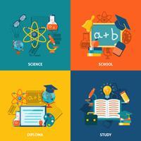 Bildung flache Set