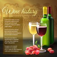 Wein Realistischer Hintergrund vektor