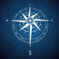 Kompass-Straßenschild vektor