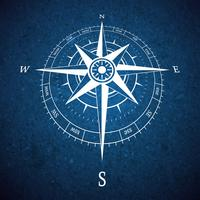 Kompass-Straßenschild