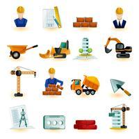 Arkitekt ikoner uppsättning