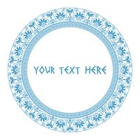 Griechischer runder Rahmen in blauer Farbe.