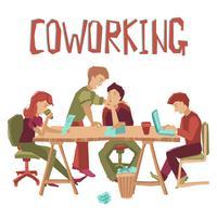 Coworking-Center-Konzept vektor