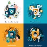 Biometrisches Authentifizierungsset vektor