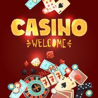 Casino Glücksspiel Poster vektor