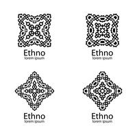 Etniska tecken och designelement