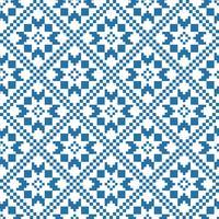 Traditionellt skandinaviskt mönster. Nordisk etnisk sömlös bakgrund vektor