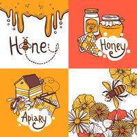 honung design koncept vektor