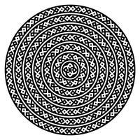 Einfarbige ethnische nahtlose Texturen. Runde dekorative vektorform getrennt auf Weiß. Orientalischer Arabeskenmusterhintergrund. Vektor-illustration