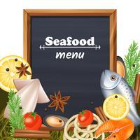Meeresfrüchte-Menüvorlage vektor