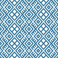 geometrischer nahtloser ethnischer Musterhintergrund in den blauen und weißen Farben vektor