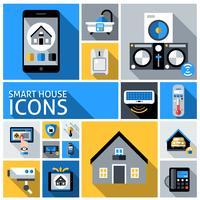 Smart House Ikoner vektor