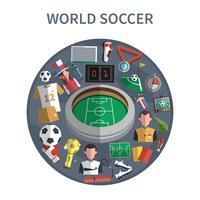 Fotbollskoncept Illustration
