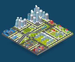 Isometrische Stadtillustration