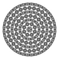 Rund ornamental vektor form isolerad på vitt.