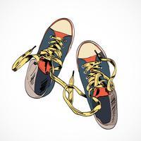 Färgad gummi skos skiss