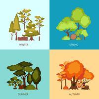 skogsdesignkoncept vektor