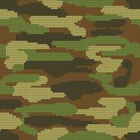 Abstrakt stickning sömlös textur. Militär dekorativa kamouflage mönster bakgrund. Vektor illustration.