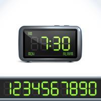 Digitala väckarklocka nummer vektor