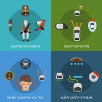 Auto-Sicherheitssystem gesetzt vektor