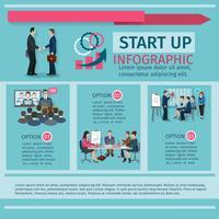 Konferens Infographics Set vektor