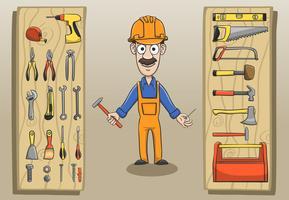 Byggnadsarbetare karaktärsförpackning