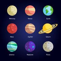 Planeter dekorativa uppsättning