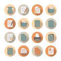 Dokumentfiler och mappar Icons Set