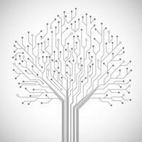 Leiterplatte Baum Symbol Poster vektor