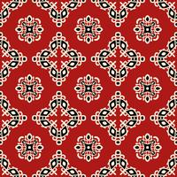 Röd tribal etnisk sömlös mönster vektor
