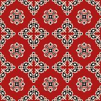 Rotes Stammes- ethnisches nahtloses Muster