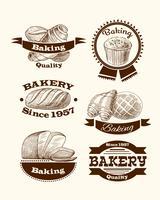 Bakverk och brödskyltar vektor