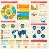 Mobiltelefon infographic vektor