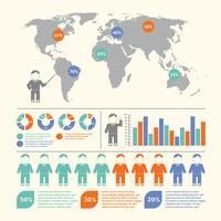 Människor infografiska uppsättning vektor
