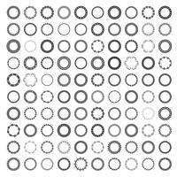 Mega-Set von 100 der beliebtesten runden Rahmen. vektor