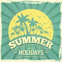 Sommerferien-Poster