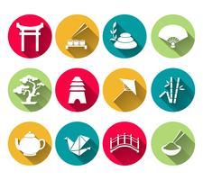 Japanische Icons Set