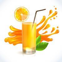 Apelsinjuice stänk