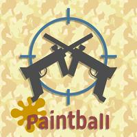 Paintball pistoler och stänk affisch vektor