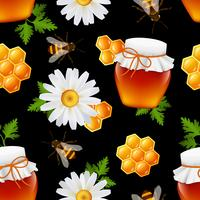 Honung sömlös mönster vektor