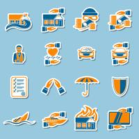 Sammlung von Versicherungssicherheitsaufklebern