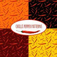 Chili peppar sömlöst mönster vektor