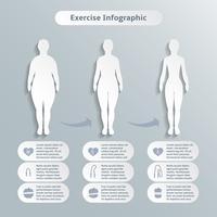 Infografiska element för kvinnor fitness vektor