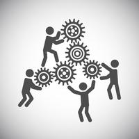 Gang-Teamwork-Konzept vektor