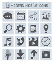 Ikoner för mobilapplikationer vektor