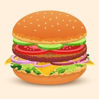 Hamburger-Sandwich-Druck