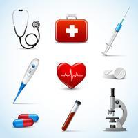 Realistiska medicinska ikoner